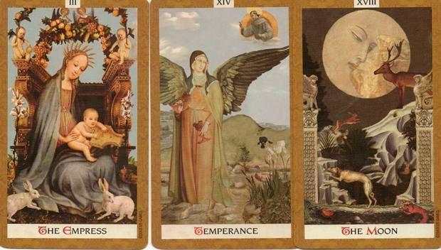 golden-tarot-empress-temperance-the-moon