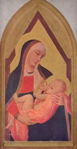 1. Амброджо Лоренцетти. Мадонна дель Латте (кормящая Мария). 1330