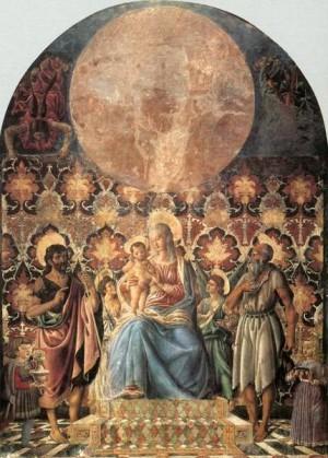 2. Андреа дель Кастаньо. Мадонна с младенцем и святыми. 1445