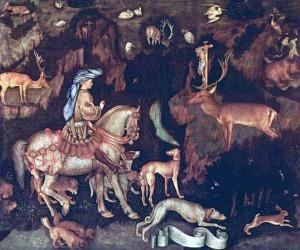 4. Антонио Пизанелло. Видение св. Евстафия. 1440
