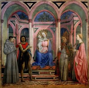 2. Доменико Венециано. Мадонна и дитя со святыми. 1445