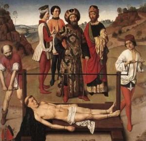 6. Дирик Боутс Старший. Мученичество Св. Эразма. ок. 1464