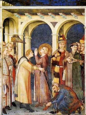 2. Симоне Мартини. Посвящение Св. Мартина в рыцари. 1344