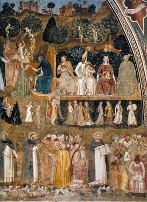 4. Андреа ди Бонайуто да Фиренце. Церковь Воинствующая и Торжествующая. 1365- 1368