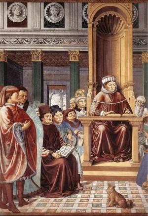 5. Беноцо Гоццоле Св. Августин учительствует в Риме. 1464-1465