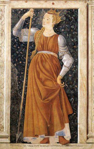1. Андреа дель Кастаньо. Знаменитые персоны. Царица Томирис*. 1450