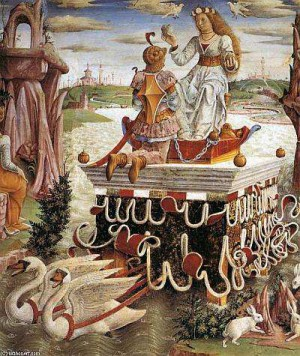 2. Франческо дель Косса. Аллегория апреля. Триумф Венеры. 1476-1484