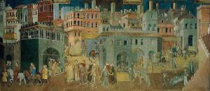 4. Амброджо Лоренцетти. Плоды доброго правления. 1337—1339