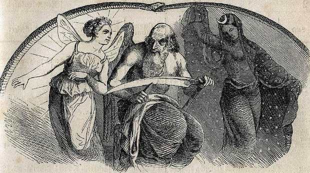 1850-webers-volks-kalender-allegorie-jahreskreis-jahreszyklen-sensenmann-saturn-elfe-fruehling