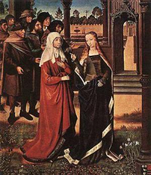1. Мастер Легенды Святого Луки. Сцена из легенды Святого Луки. 1480