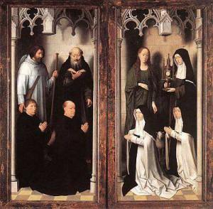 2. Ханс Мемлинг. Алтарь Св. Иоанна (ставень). 1474- 1479