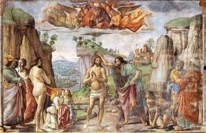 3. Доменико Гирландайо. Крещение Христа. 1485–1490