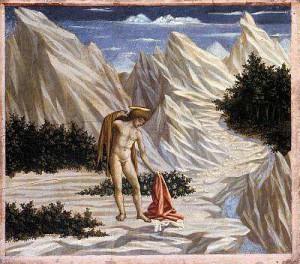 4. Доменико Венециано. Святой Иоанн в пустыне. 1445