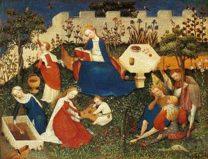 1. Неизвестный германский мастер.  Райский сад. 1410