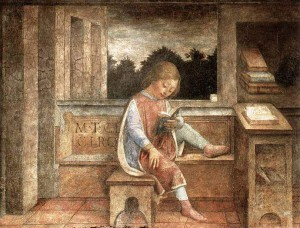 2. Винченцо Фоппа. Юный Цицерон за книгой. 1464