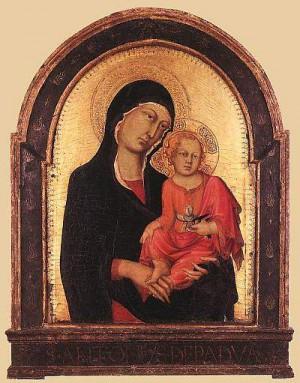 3. Симоне Мартини. Мадонна с Младенцем. 1320-1325