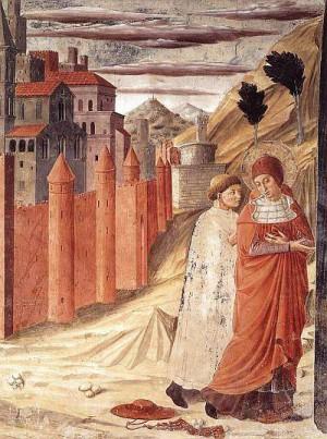 4. Беноццо Гоццоли. Уход Святого Иеронима из Антиохии. 1452