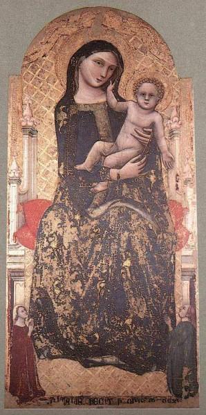1. Витале да Болонья. Мадонна с Младенцем. 1345