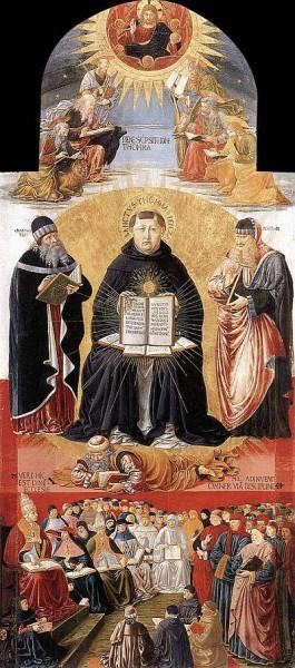 4. Беноццо Гоццоли.  Триумф Св. Фомы Аквинского. 1471