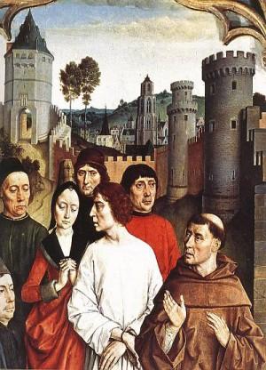 3. Дирк Боутс. Суд Оттона (фрагмент). 1460
