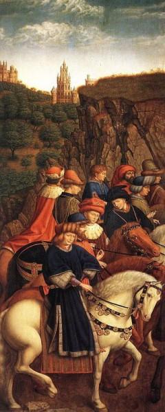 1. Ян ван Эйк. Гентский алтарь. Праведные Судьи. 1427-1430