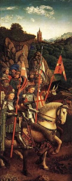 2. Ян ван Эйк. Гентский алтарь. Воинство Христово. 1427-1430