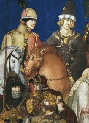 3. Пьетро Лоренцетти. Распятие (фрагмент). 1320