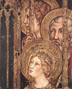 2. Симоне Мартини. Маэста (деталь). 1315