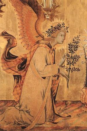 3. Симоне Мартини. Благовещенье (деталь). 1333