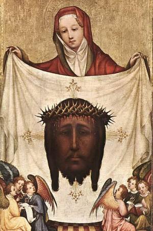 1. Мастер Св. Вероники. Св. Вероника с плащаницей. 1420