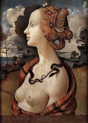 4. Пьеро ди Козимо. Портрет Симонетты Веспуччи. 1480