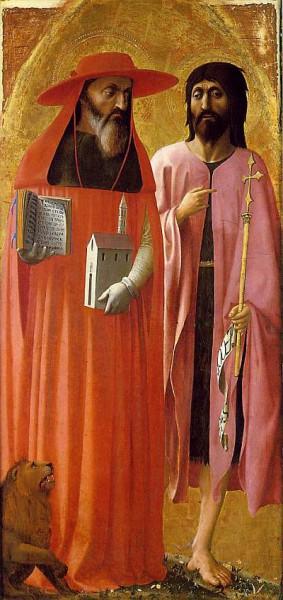 5. Мазаччо. Св. Иероним и Св. Иоанн Креститель. 1428