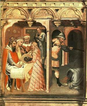 6. Спинелло Аретино. Праздник у Ирода. 1385
