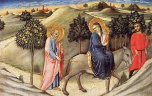 7. Сано ди Пьетро. Бегство в Египет. 1450