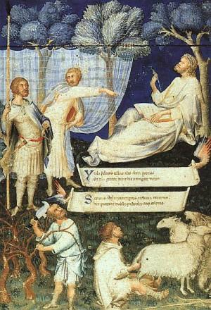 1. Симоне Мартини. Фронтиспис к рукописи Вергилия, принадлежавшей Петрарке. 1336