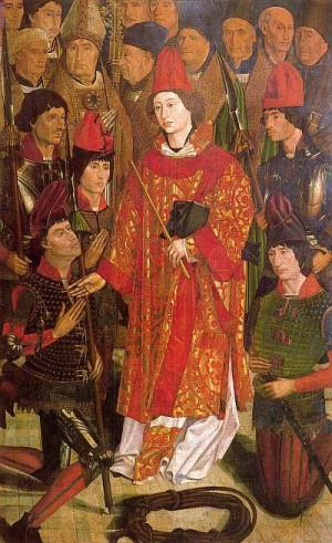 3. Нуну Гонсалвиш. Полиптих святого Винсента, панель архиепископа. 1460-е