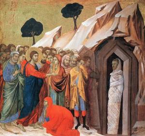 4. Дуччо ди Буонинсенья. Воскрешение Лазаря. 1308- 1311