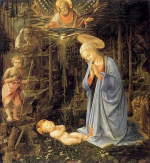 3. Фра Филиппо Липпи. Мадонна в лесу. 1460