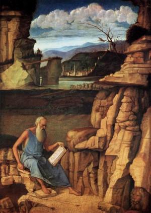 1. Джованни Беллини. Святой Иероним, читающий на природе. 1480-1485