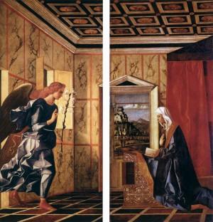 2. Джованни Беллини. Ангел Благовещения. 1500