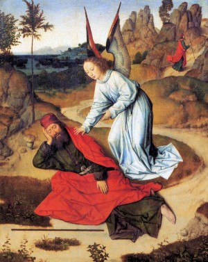 3. Дирик Боутс Старший. Пророк Илия в пустыне. 1464-1468