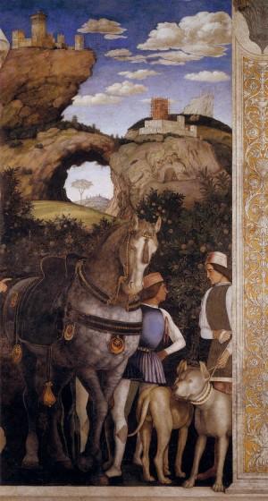 5. Андреа Мантенья. Свита кардинала Франческо. Деталь.1471-1474