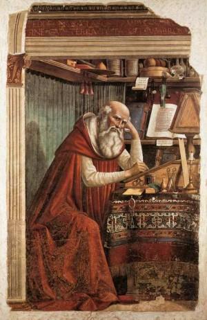 2. Доменико Гирландайо. Св. Иероним за своей работой. 1480