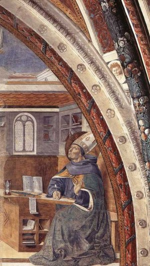 3. Беноццо Гоццоли. Явление святого Иеронима святому Августину. 1464- 1465
