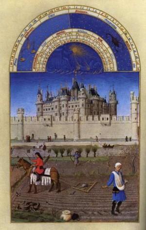 4. Братья Лимбург. Великолепный часослов герцога Беррийского (Сентябрь). 1412- 1416
