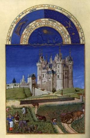 5. Братья Лимбург. Великолепный часослов герцога Беррийского (Октябрь). 1412- 1416