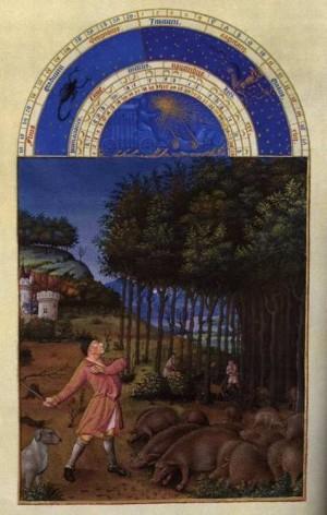 6. Братья Лимбург. Великолепный часослов герцога Беррийского (Ноябрь). 1412- 1416