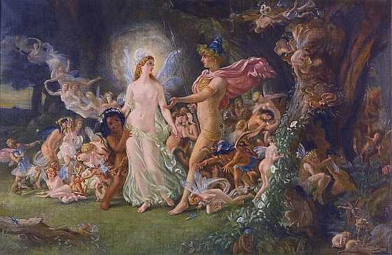 Joseph Noel Paton. Оберон и Титания. 1846