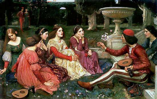 John William Waterhouse. A Tale from the Decameron (1916)