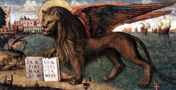 Витторе Карпаччо. Лев Св. Марка (фрагмент). Венеция. 1516